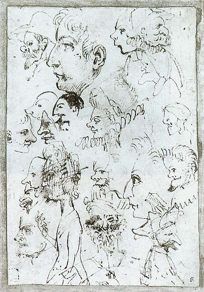 Annibale Carracci Sheet of caricatures