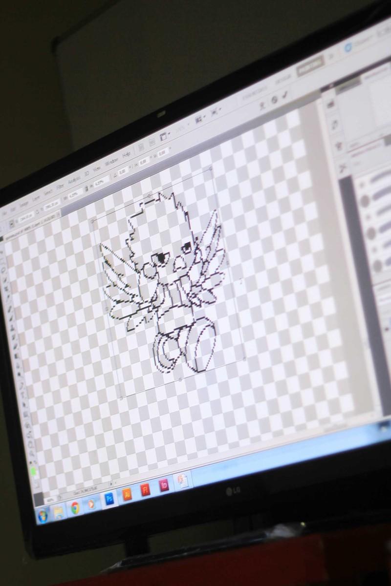 """Bikin sketch dulu dan masuk tahap """"pixleate"""""""