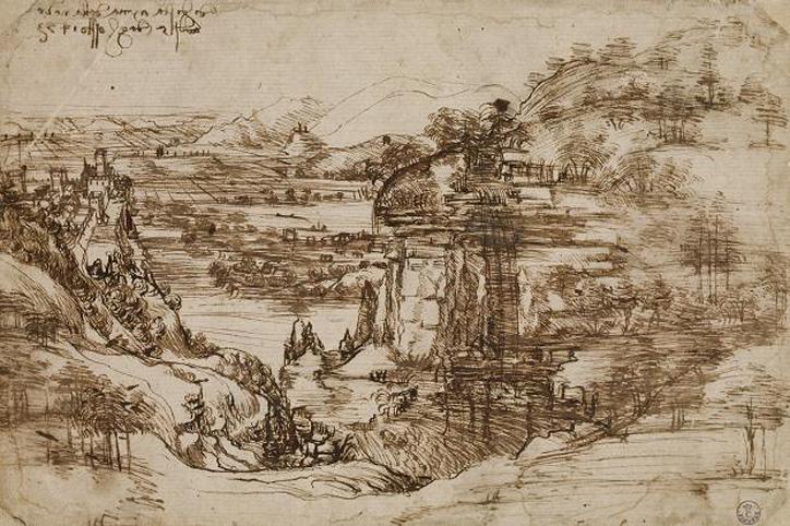 Leonardo-Da-Vinci-Waterfall