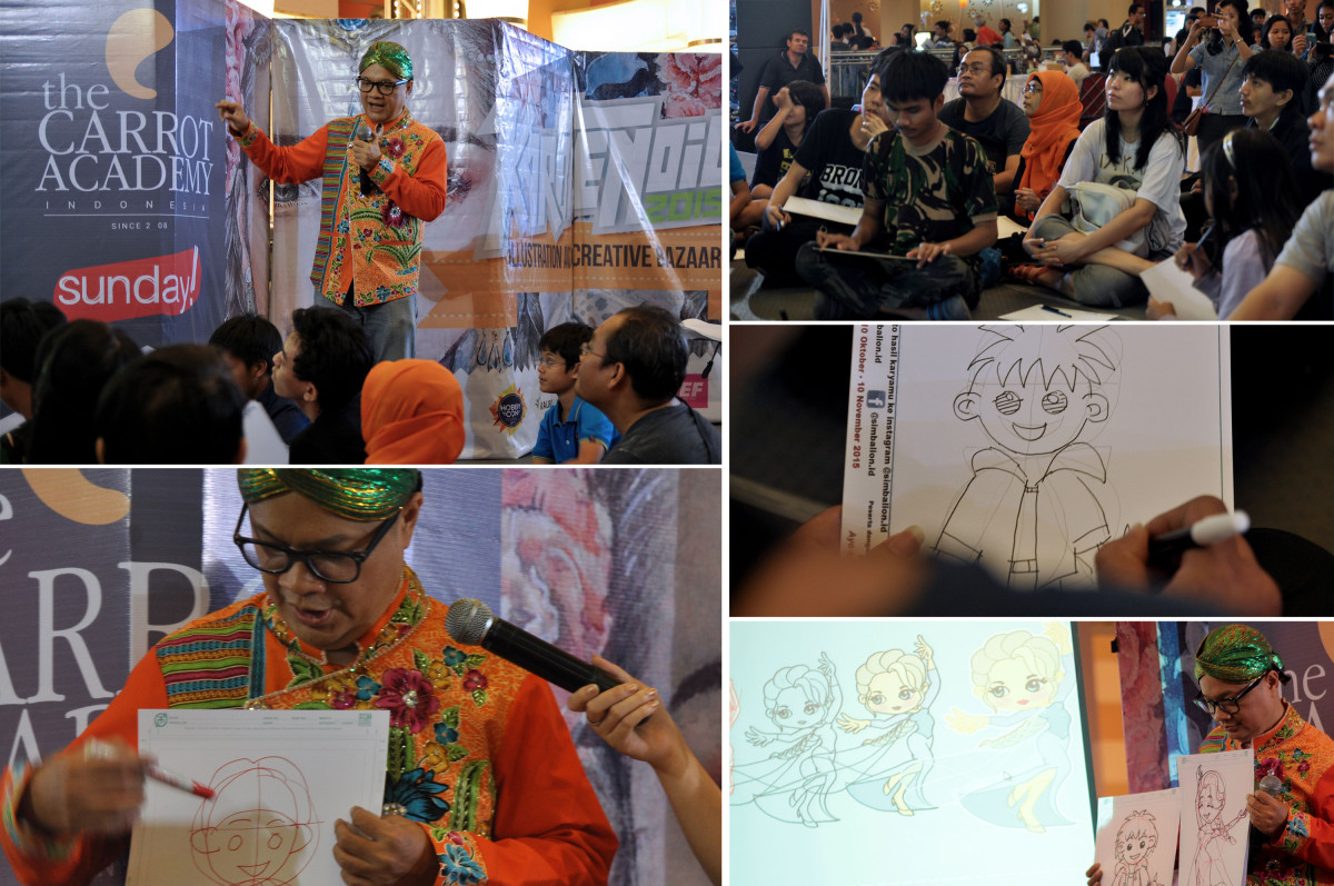 "Workshop ""Karakter Unyu Korea"" with Bambi Gunawan"
